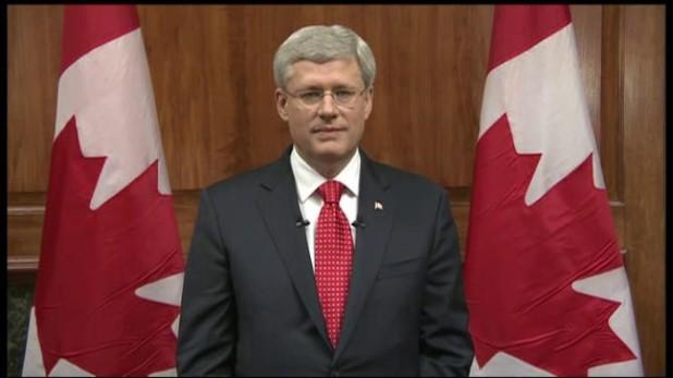 Stephen Harper Addresses the Nation